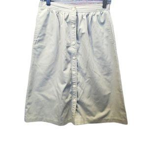 Vintage Khaki Button Down Skirt Size 10